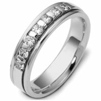 Item # 47243NW - 14kt White Gold Diamond Wedding Ring