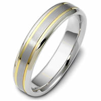 Item # 47319PE - Platinum & 18kt Classic Wedding Ring