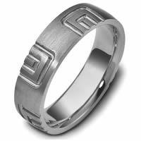 Item # 47493TI - Titanium Carved Wedding Ring