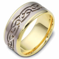Item # 47541E - Celtic Carved Wedding Ring
