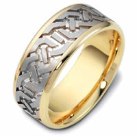 Item # 47542E - Contemporary Carved Wedding Ring