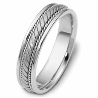 Item # 47554PD - Palladium Hand Crafted Wedding Ring