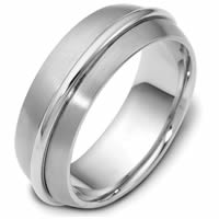 Item # 47560PD - Palladium Contemporary Wedding Ring