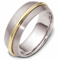 Item # 47560PE - Platinum & 18kt Contemporary Wedding Ring
