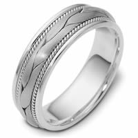 Item # 47567PD - Palladium Handcrafted Wedding Ring