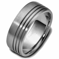 Item # 47693TI - Titanium Classic Carved Wedding Ring