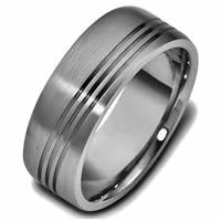 Item # 47694TI - Titanium Classic Carved Wedding Ring