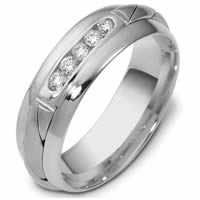 Item # 47761WE - 18K White Gold Diamond Wedding Band