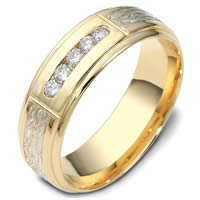 Item # 47764PE - Platinum-18K Diamond Wedding Band