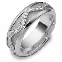 14K White Diamond Spinning Wedding Band