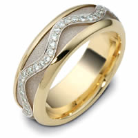 Item # 47769E - 18K Diamond Spinning Wedding Band
