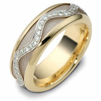 Item # 47769NE - Diamond Two-Tone Spinning Wedding Ring