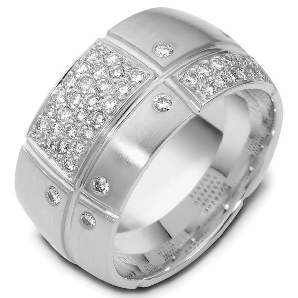 Palladium Diamond Wedding Band