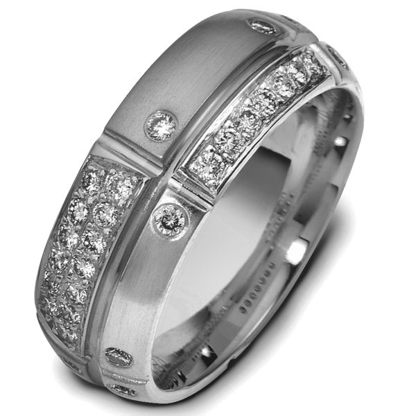 Item # 47778TI - Titanium Diamond Wedding Band  View-1