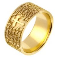 Item # 47824E - Padre Nuestro Wedding Band