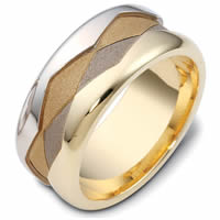 Item # 47887E - Gold Wedding Band Two Rivers