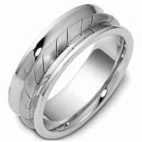 Item # 47902PD - Palladium Contemporary Wedding Ring