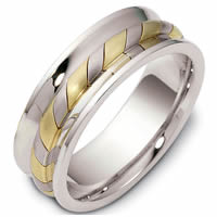 Item # 47902PE - Platinum & 18kt Contemporary Wedding Ring