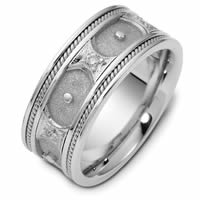 Item # 47905WE - 18K White Gold Diamond Wedding Band
