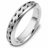 Item # 47922PD - Palladium Handcrafted Wedding Ring