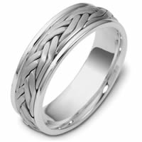 Item # 47923PD - Palladium Handcrafted Wedding Ring