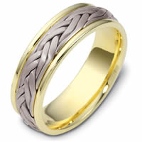 Item # 47923PE - Platinum and 18kt Handcrafted Wedding Ring