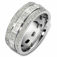 Item # 47965WE - 18K Gold Diamond Wedding Band