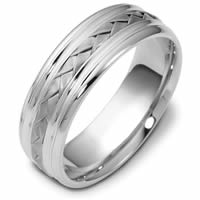 Item # 48031PD - Palladium Handcrafted Wedding Ring