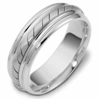 Item # 48033PD - Palladium Handcrafted Wedding Ring