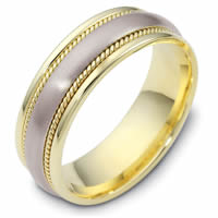Item # 48036PE - Platinum & 18kt Classic Wedding Ring
