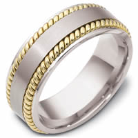 Item # 48039PE - Platinum & 18kt Classic Wedding Ring