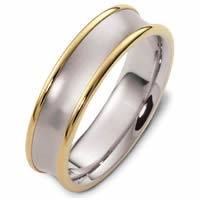 Item # 48079NPE - Platinum & 18kt Classic Wedding Ring