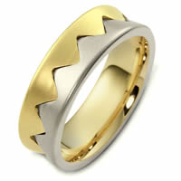 Item # 48152E - Contemporary Two-Tone Wedding Ring