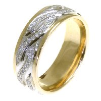 Item # 48164E - 18K Gold Diamond Wedding Band