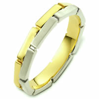 Item # 48173E - Two-Tone Gold Contemporary Wedding Ring