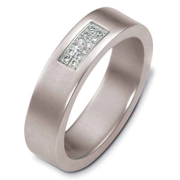 Item # 48191PD - Palladium Diamond Wedding Band View-1