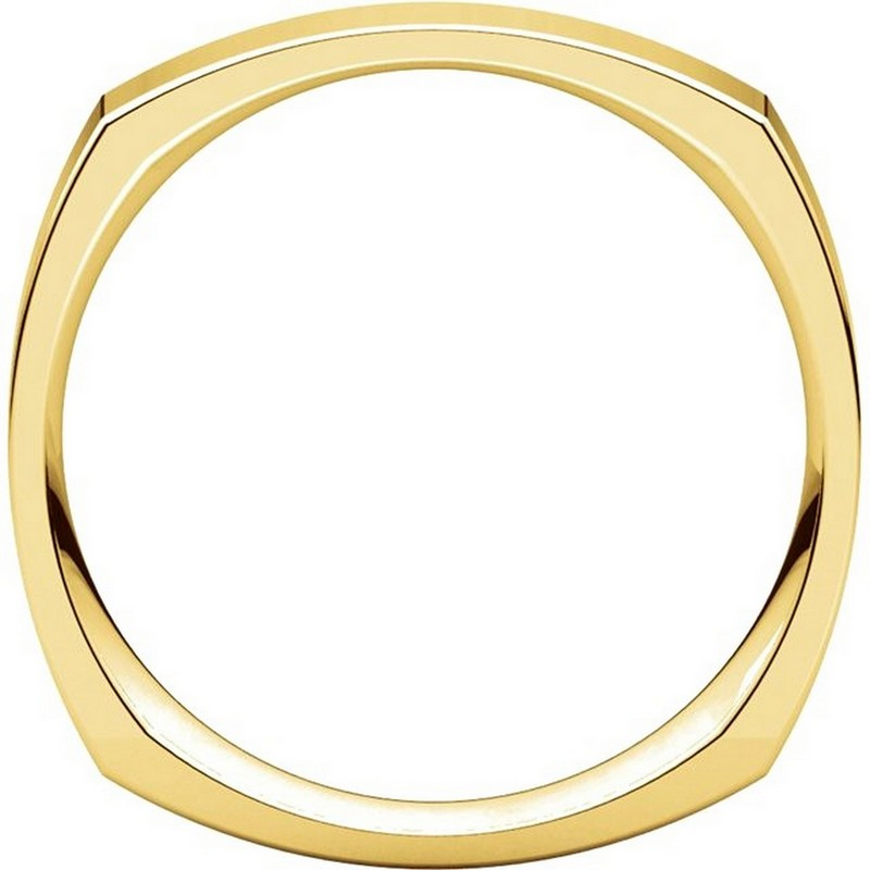 Item # 48214E View 2 - Gold Square Comfort Fit Men's Wide Wedding Ring