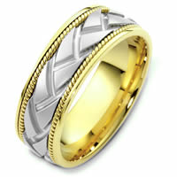 Item # 48237E - Two-Tone Handcrafted Wedding Ring