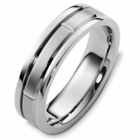 Item # 48238W - White Gold Carved Classic Wedding Ring