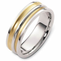Item # 48254PE - Platinum & 18kt Classic Wedding Ring