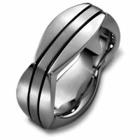 Item # 48261TI - Titanium Contemporary Square Wedding Ring