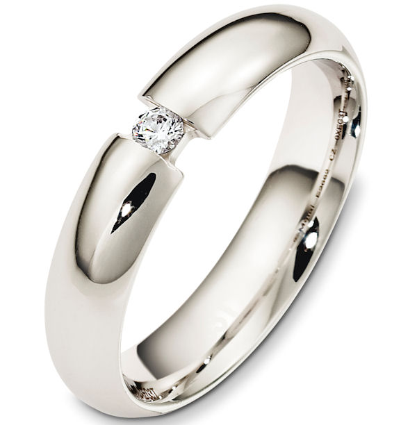 Item # 48340PP - Platinum Diamond Wedding Band View-1
