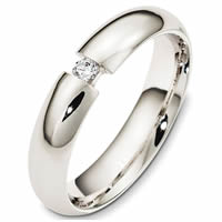 Item # 48340W - 14K White Gold Diamond Wedding Band