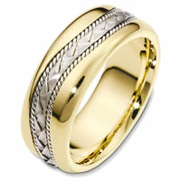 Item # 48420E - Two-Tone Handcrafted Wedding Ring