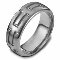 Item # 48444TI - Titanium Carved Wedding Ring
