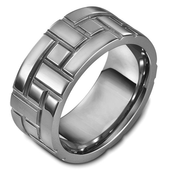 Item # 48478NTI - Titanium Carved Wedding Ring  View-1