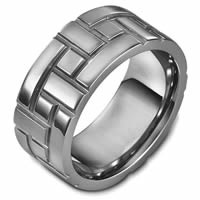 Item # 48478NTI - Titanium Carved Wedding Ring
