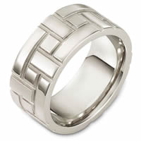 Item # 48478W - Carved Wedding Ring