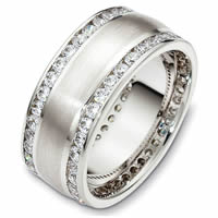 Palladium Diamond Eternity Wedding Ring