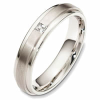 Item # 48504W - 14K White Gold Diamond Wedding Band